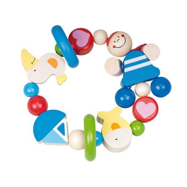 ¡Al abordaje! Que tu bebé empiece a familiarizarse con los colores y las formas del mar será mucho más fácil con este sonajero #juguetes #kanikas #goki