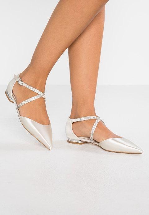 separation shoes 49122 73fe5 CARING - Ankle strap ballet pumps - ivory @ Zalando.co.uk ...