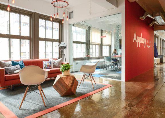 Homepolish Interior Design | Appboy's Sunny, Airy, Fun(ny) Office