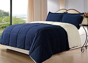 borrego comforter set queen navy blue
