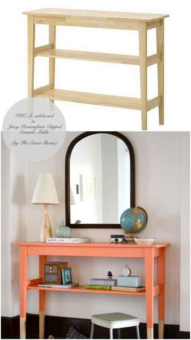 Paint a Norden sideboard ($79.99) to look dip-dyed.