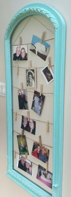 Teal frame picture holder