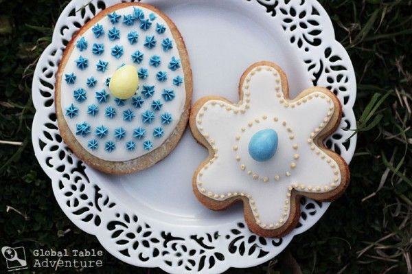 Marzipan Easter Cookies from Malta (Figolla)~two lemon infused sugar cookies surrounding a soft, almond paste center. Oh yea....