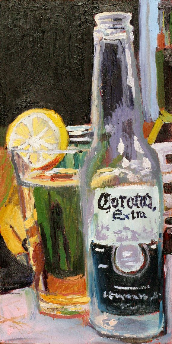 Beer Art Print of Corona Mexican Beer  Limited by RealArtIsBetter, $35.00