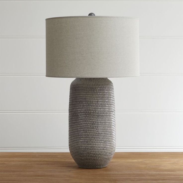 Cane Grey Table Lamp Reviews Crate And Barrel Grey
