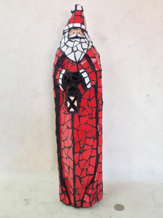 MOSAIC SANTA by BOREEJON on Etsy, $125.00
