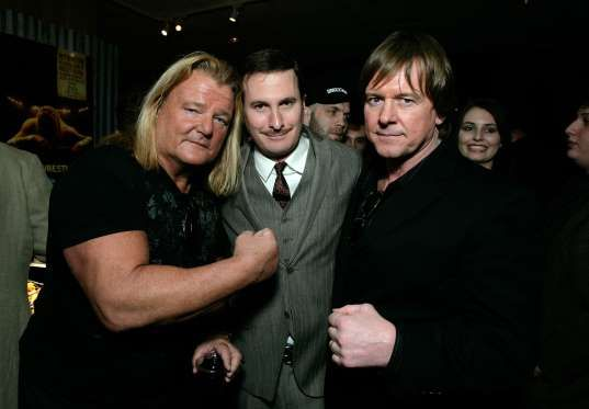 Wrestlers Greg 'The Hammer' Valentine, Director Darren Aronofsky and Rowdy' Roddy Piper attend the a... - Todd Williamson/WireImage