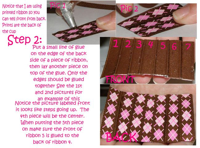 Free cupcake clippie hair bow instructions hairbow free directions