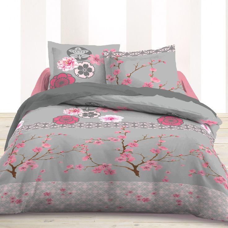 parure de couette sakura avec fleurs de cerisier fleurs