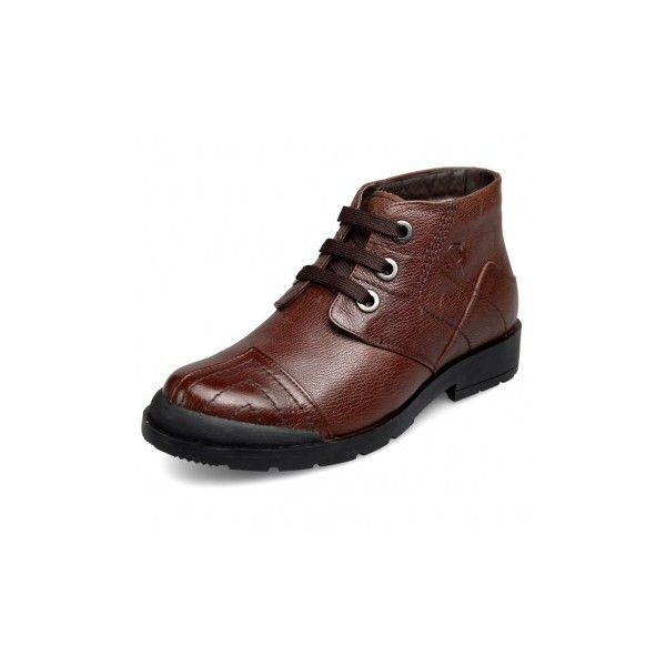 Height increasing warm shoes for men taller 2.6inch 6.5cm brown high... via Polyvore featuring men's fashion, men's shoes, men's boots, mens brown shoes, mens round toe cowboy boots, mens high top shoes, mens high top boots and mens brown boots