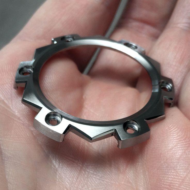 Watch Bezel in the making. handmade bezel for the Black Polar Bear watch