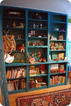 Bohemian Homes: Turquoise Shelves