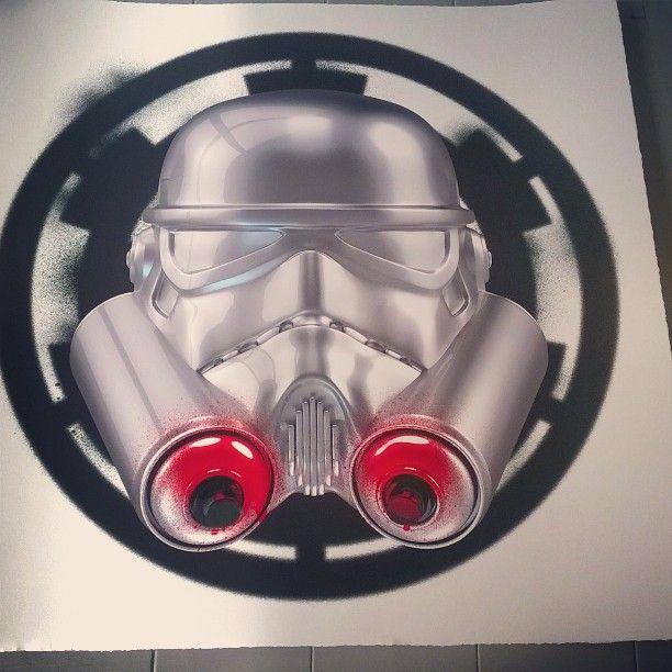 New in! Spray Trooper by The Strange Case Company #starwars #spraypaint #giclee #silkscreen #new #art