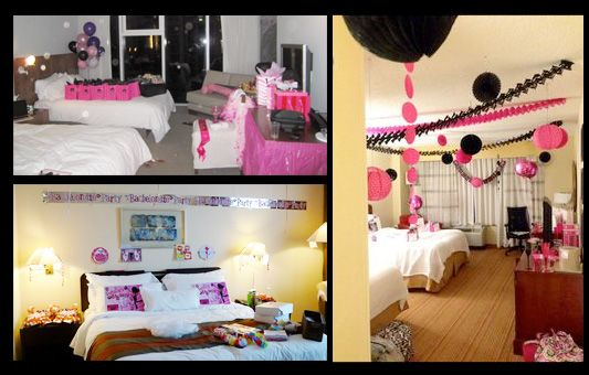 Decorate Hens Hotel Room Crafts In 2019 Hotel Birthday