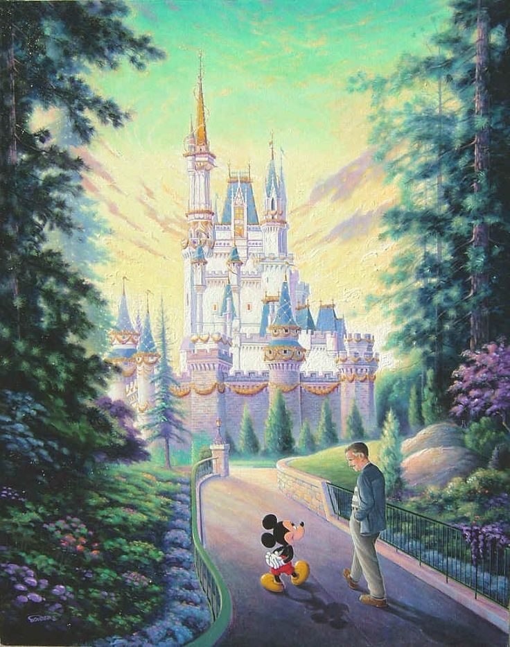 I love this pic. The two original Disney folks walking through their creation. Mickey Mouse and Walt Disney.