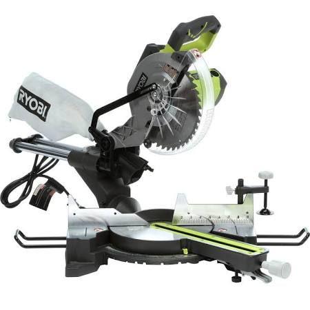 Miter Saw: Ryobi Saws - Box and Miter 13-Amp 10 in. Sliding Miter Saw with Laser TSS102L