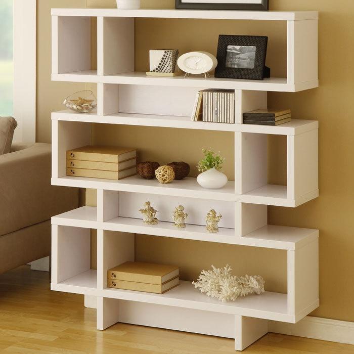 Found It At AllModern   Hokku Designs Celio Three Tier Bookcase / Display  Cabinet In Matte White Want In Dark Brn
