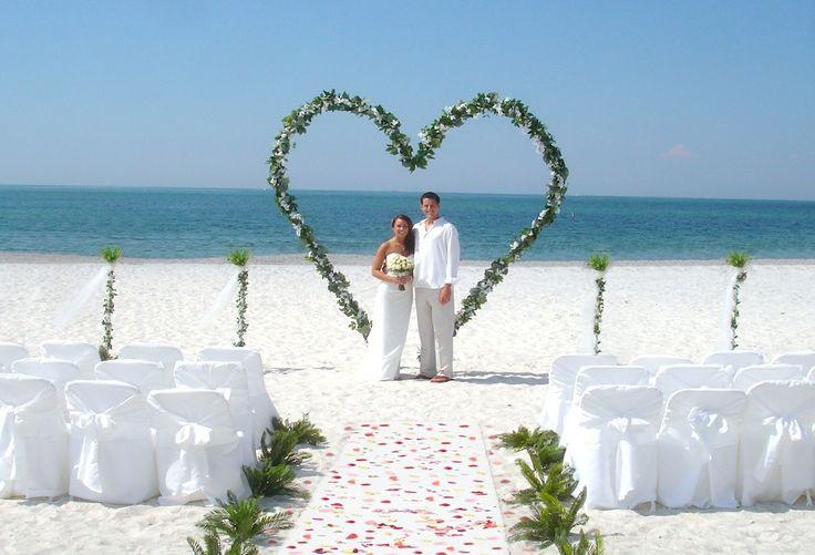 Beach Wedding Ceremony Decorations: Lido Beach Florida Beach Wedding