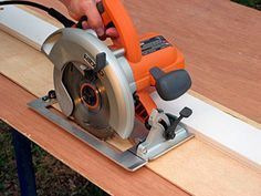How to Build a Simple Circular Saw Guide (or we could just buy the straight edge clamping tool....:))