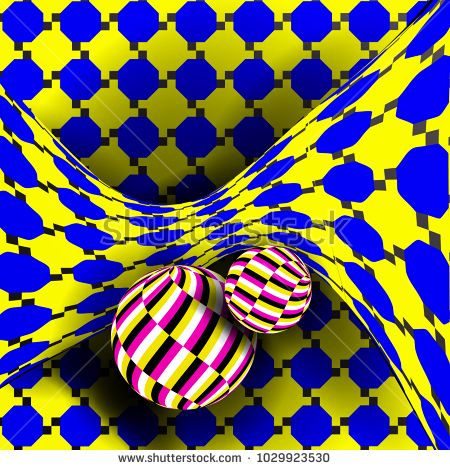 Illusion Vector. Optical 3d Art. Rotation Dynamic Optical Effect. Swirl Illusion. Geometric Magic Background Illustration