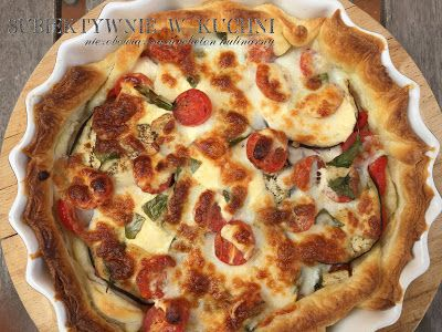subiektywnie w kuchni: Szybka tarta z kozim serem, bakłażanem i innymi sm...