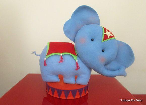Elefante Circo | Ludices em Feltro | 39302D - Elo7