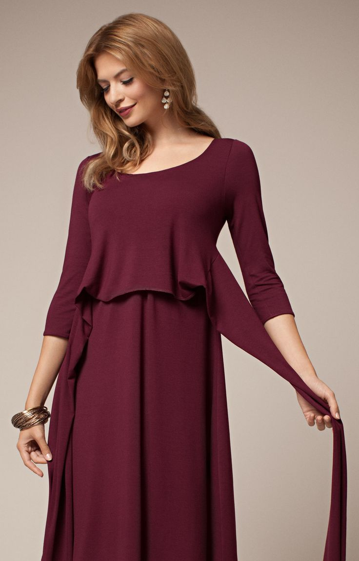 Naomi Maternity Nursing Dress Mulberry by Tiffany Rose