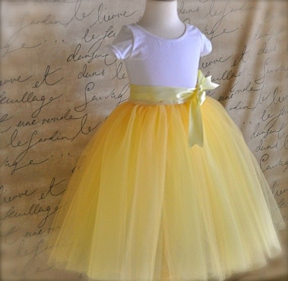 Sunshine yellow tutu for girls Six layers of by TutusChicBoutique, $120