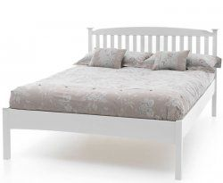 Eleanor Hevea White Small Double Low Foot End 4ft Bed