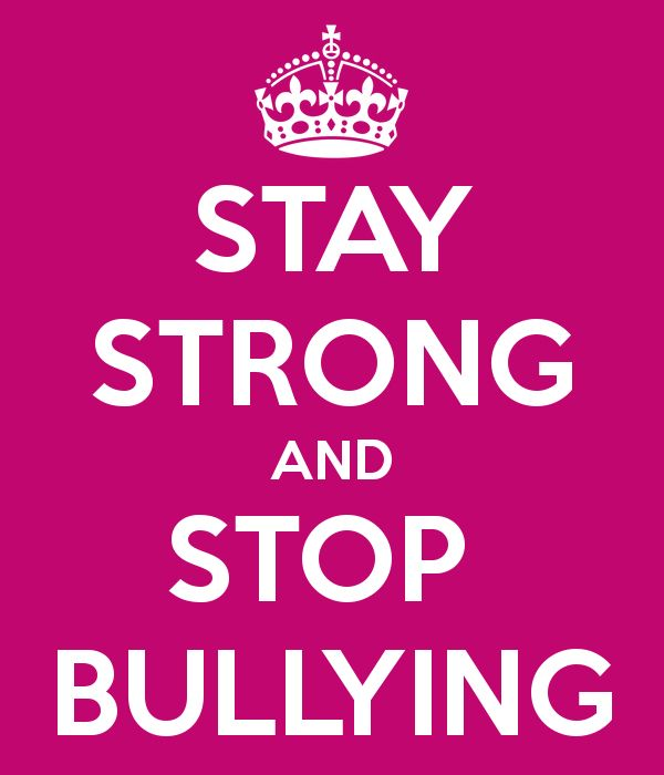 JUST BECAUSE YOU ARE BIGGER DOES NOT MEAN YOU ARE BETTER THAN ANY ONE IF YOU ARE AGAINST BULLYING REPOST THIS !!