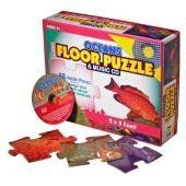 FLOOR PUZZLE & CD OCEANS by Twin Sisters Productions. $16.00. This company, Twin sisters was born out of a love for children and seeing the wonderful look of pride on their faces when they have mastered a concept, and have had fun doing it! Reveal many of the most beautiful sea creatures in the deep by assembling the 48-piece giant 2-foot by 3-foot floor puzzle! The Music CD features original music that teaches kids about marine biology, marine mammals, and ocean creatures.