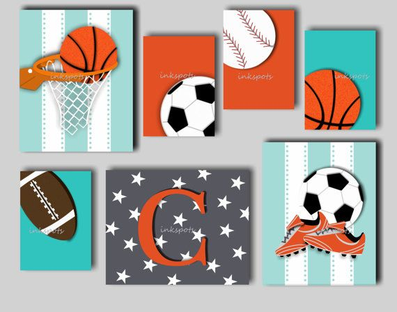Baby Boy Nursery Art Boys Sport Prints Boys by inkspotsgallery, $65.00