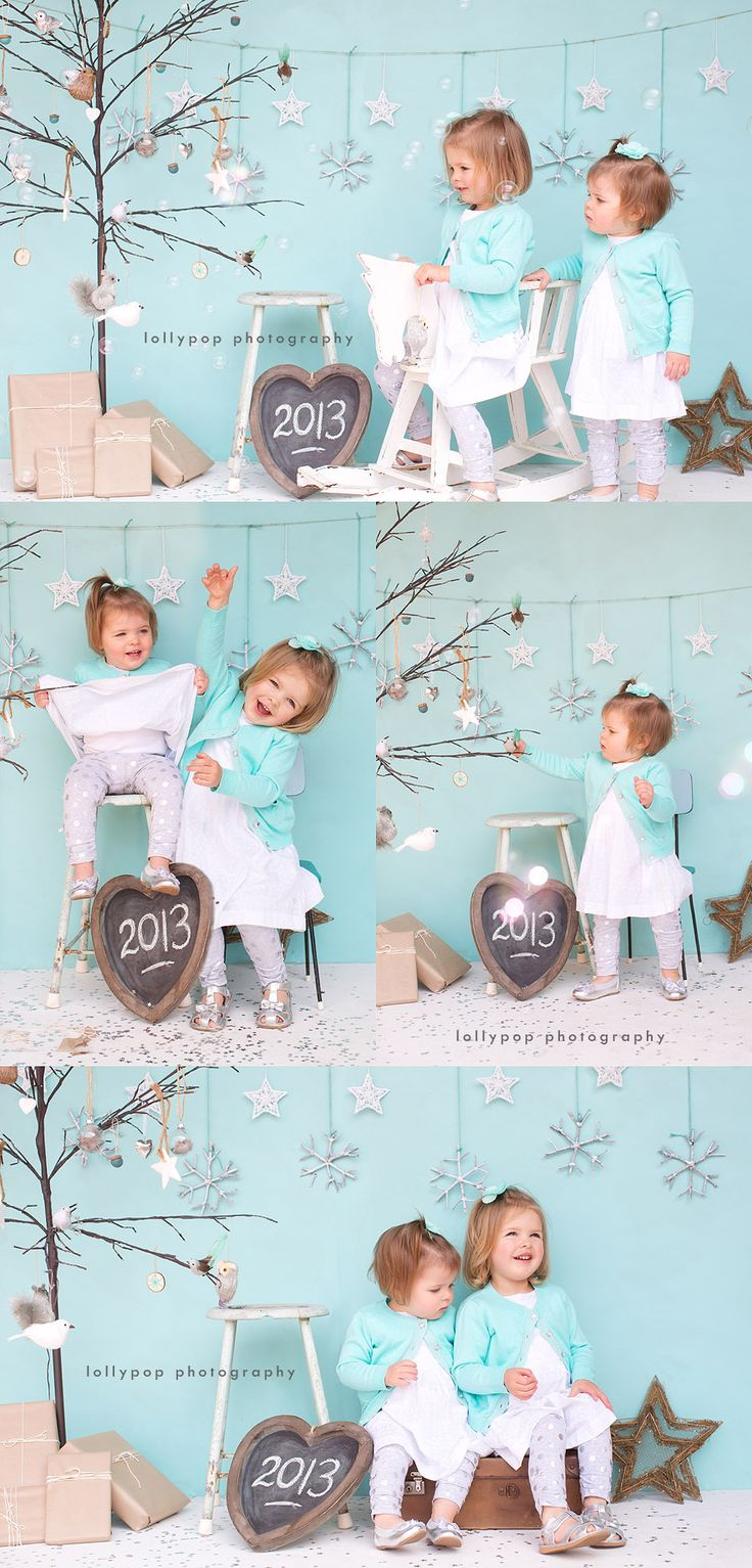 #winter #sisters I love the harmony of soft blue and white, just like the snow in the winter, where you can smell the warm feeling of white christmas
