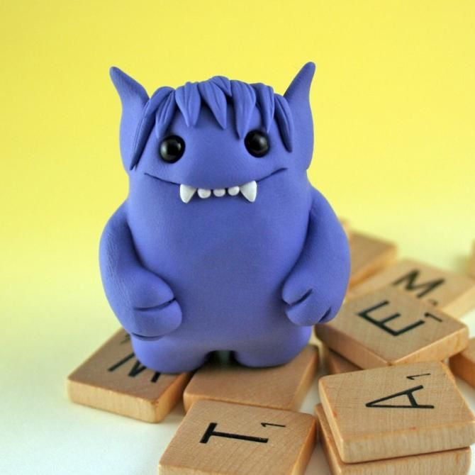 Another cute clay monster.