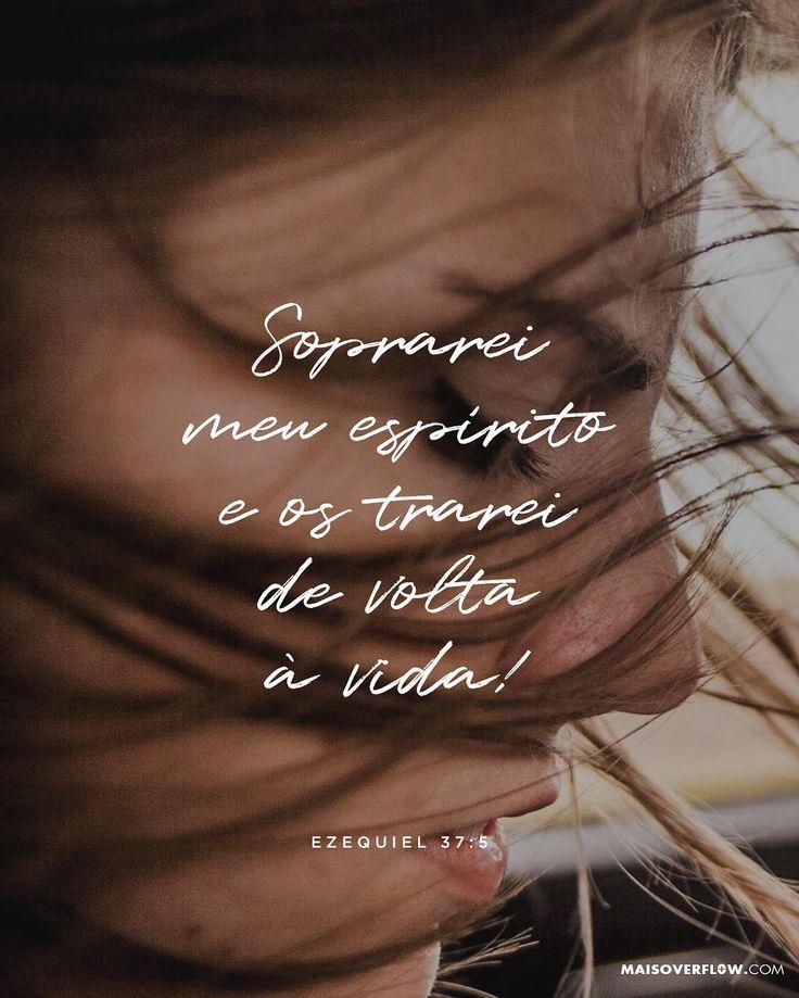 """""""Assim diz o Senhor Soberano: Soprarei meu espírito e os trarei de volta à vida!"""" Ezequiel 37:5  #30DaysOfBibleLettering () maisoverflow.com  X"""