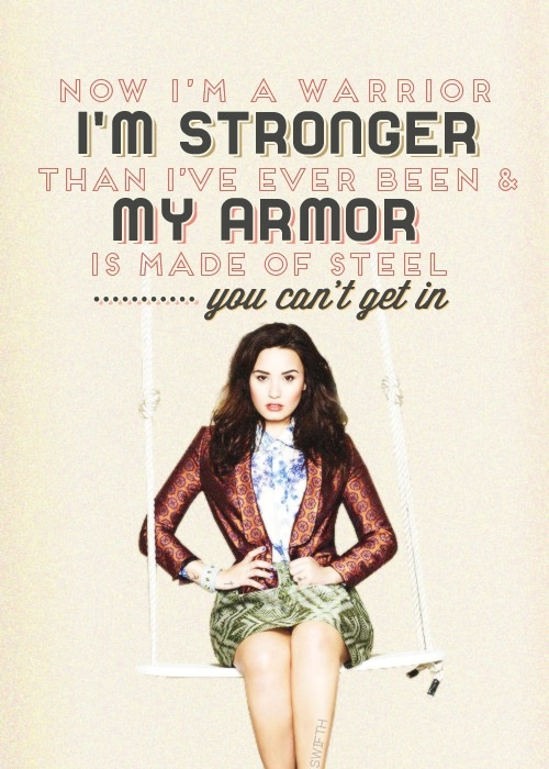 demi lovato warrior lyrics - photo #1