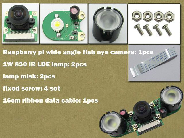 Пи малины широкоугольный рыбий глаз камера RPI веб-камера костюм Raspbian DIY комплект разработки новое поступление бесплатная доставка оптовая продажа горячая распродажа