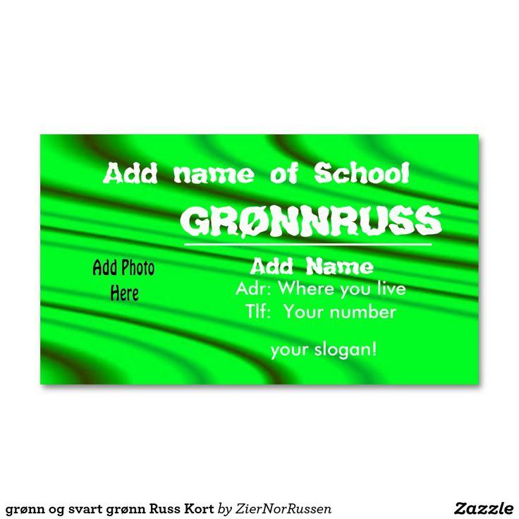 grønn og svart grønn Russ Kort Double-Sided Standard Business Cards (Pack Of 100)