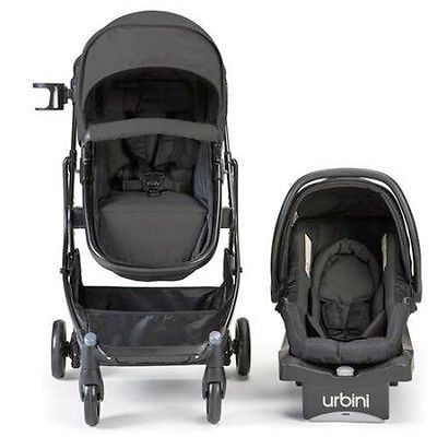 Urbini 4-in-1 Omni Baby Toddler Carriage Travel System Plus Infant Seat Carrier