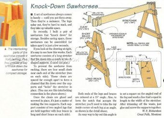 #1233 Knock Down Sawhorses - Workshop Solutions Plans, Tips and Tricks