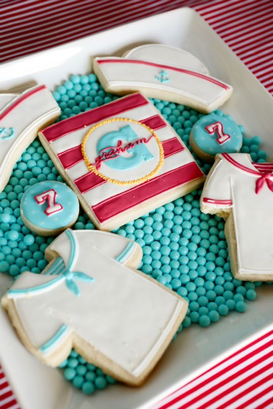 adorable sailor cookies!  {The Party Wagon}