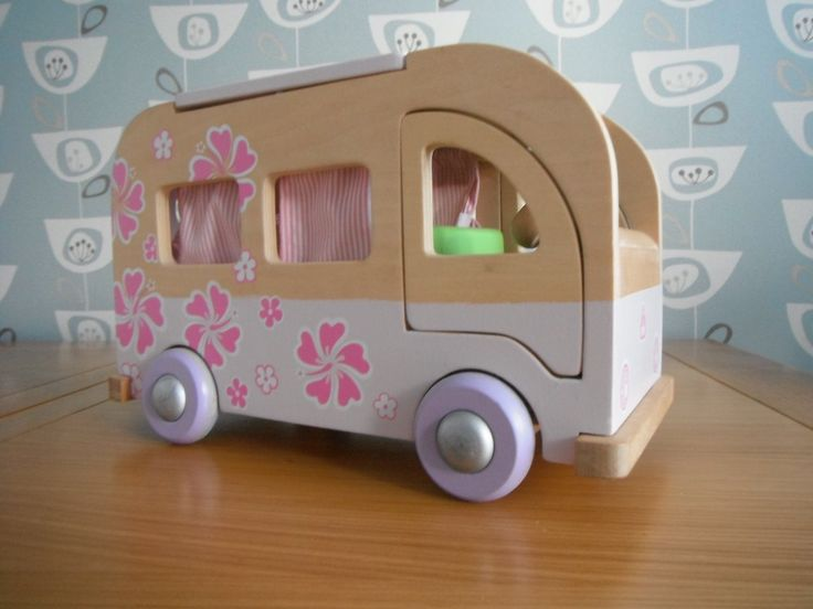 Early Learning Centre ELC Rosebud Wooden Camper Van | eBay