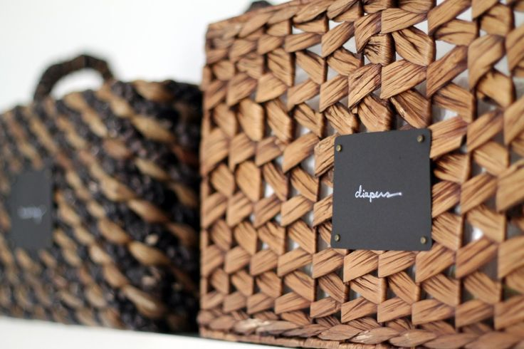 "Easy ""Chalkboard"" Basket Labels 