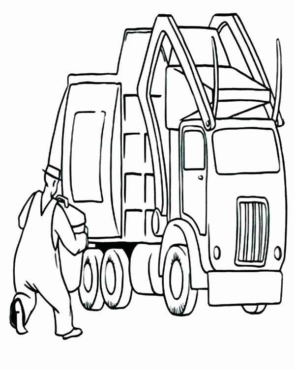 Garbage Truck Coloring Pages : garbage, truck, coloring, pages, Trash, Truck, Coloring, Garbage, Getcolorings, Pages,, Online, Pages
