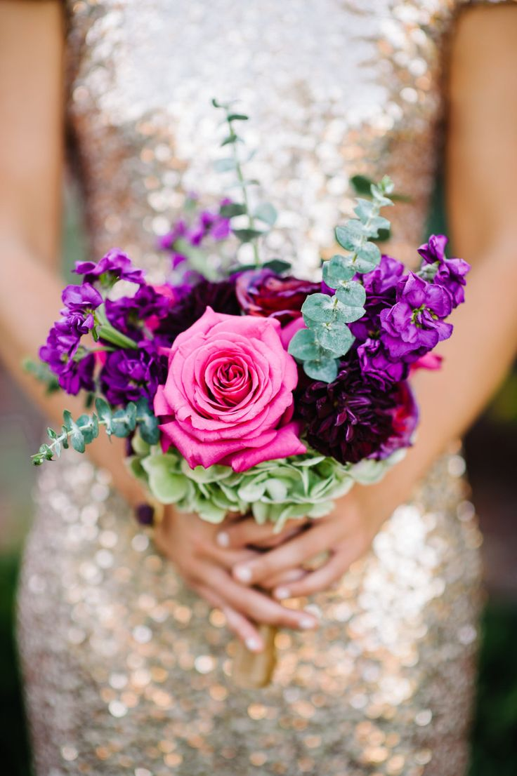 Colorfully Elegant Casa Feliz Wedding, purple, mint green and pink bouquet, pantone ultra violet, bright purple, dark purple, violet