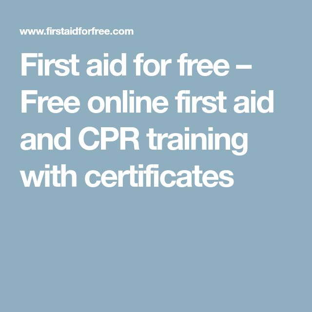 First aid for free – Free online first aid and CPR training with certificates