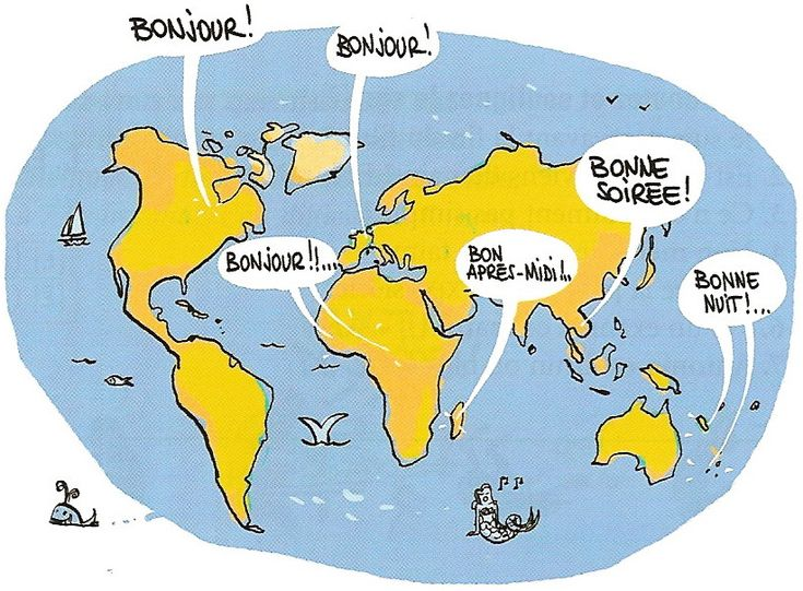 La langue française est parlée sur tous les continents