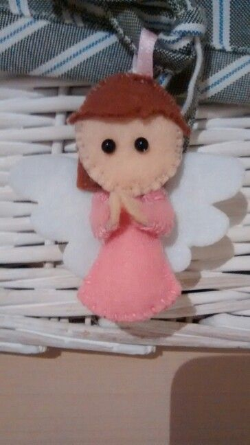 """angelito fieltro """"xfis protegeme mucho"""" 3,5€ preguntar precio, para comuniones o bautizos"""