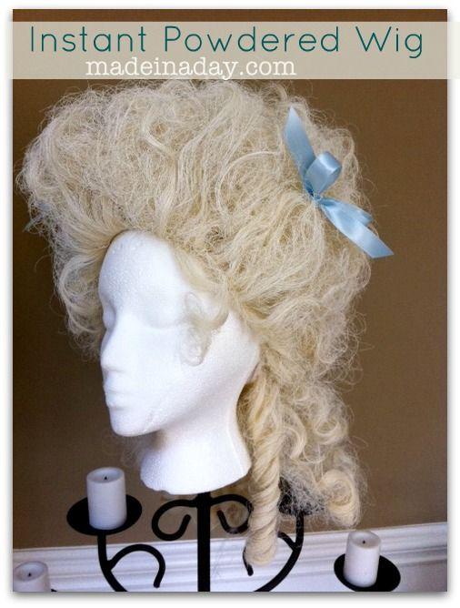 Spray Paint Wig White 4