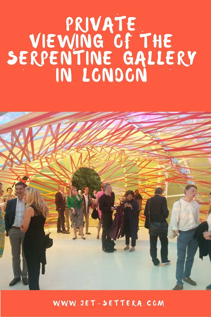 Read about a private viewing of The Serpentine Gallery in Hyde Park, London   Serpentine…
